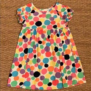 Hannah Andersson Rainbow Polka Dot Dress 6-7